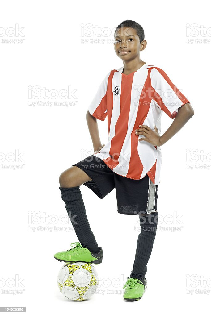 Teenage Soccer Player - Isolated stock photo