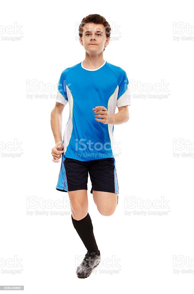 Teenage soccer player stock photo