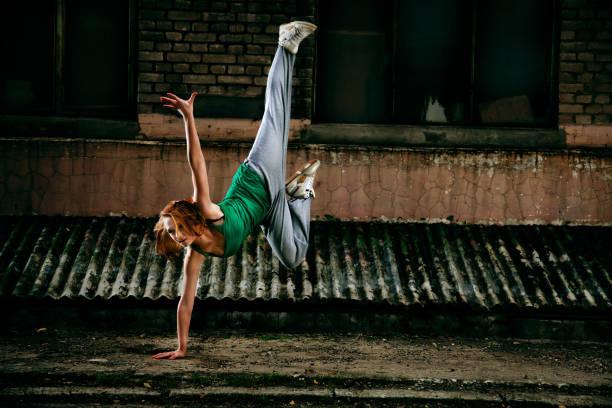 Teenage street dancer stock photo