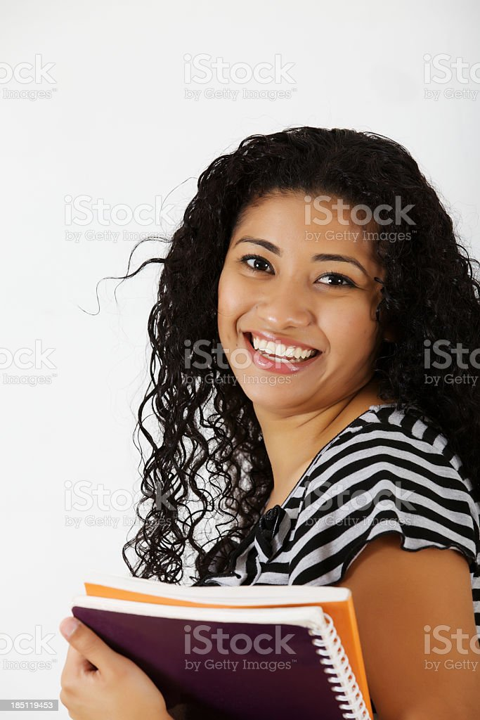 teenage student at the library royalty-free stock photo