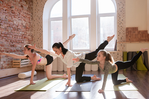 Teenage Yoga Class Girls Gymnastics Stock Photo Download Image Now Istock