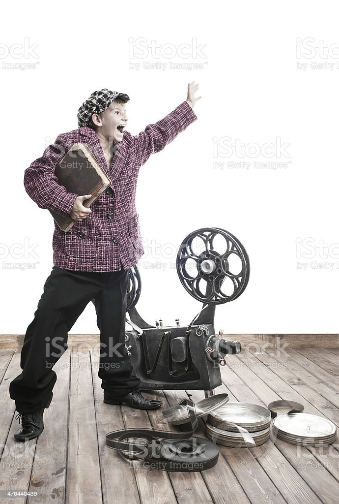 Teenager and cinema royalty-free stock photo