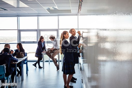 911029590 istock photo Teenager at work in Class 648943378