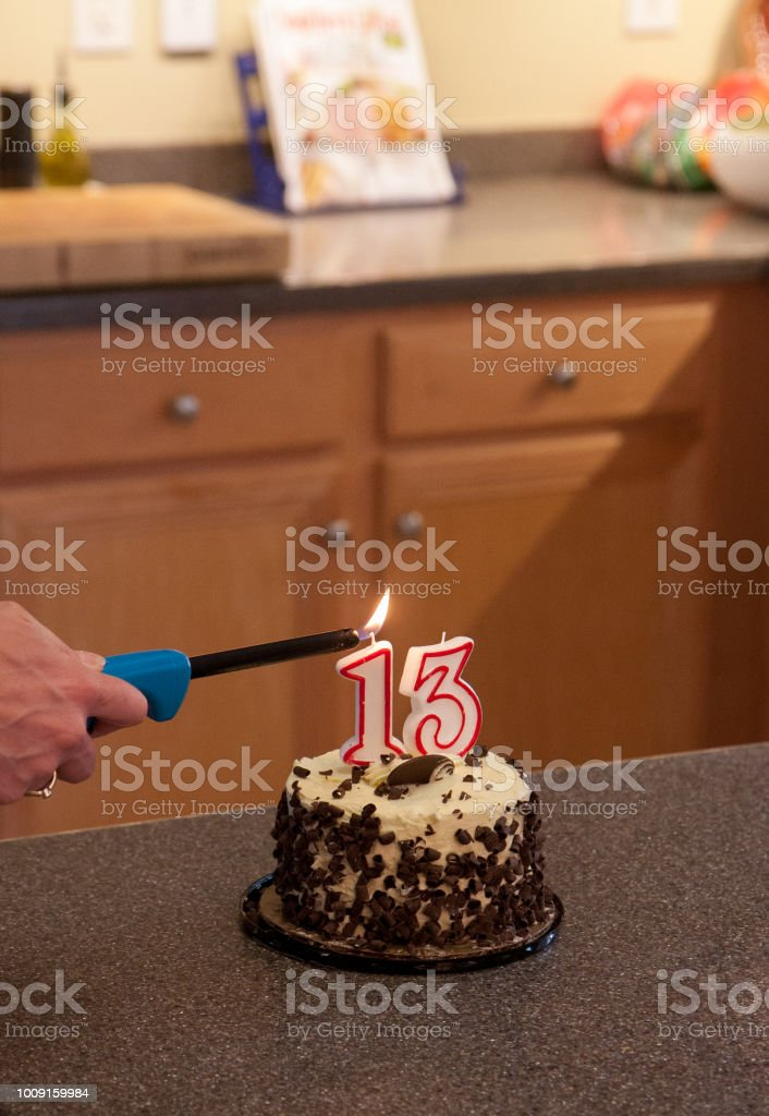 Fine Teenager Birthday Cake Stock Photo Download Image Now Istock Funny Birthday Cards Online Inifodamsfinfo