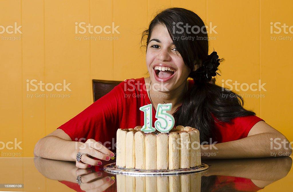 Adolescente compleanno - foto stock