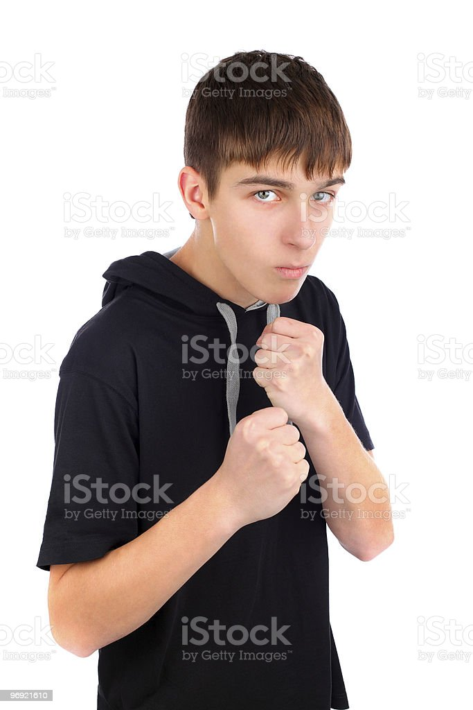 teenager boxer royalty-free stock photo
