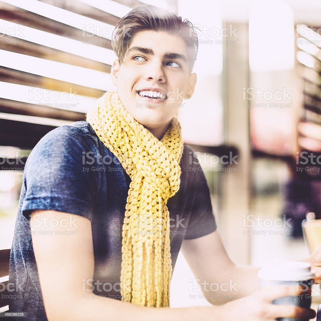 Teenager boy in the city royalty-free stock photo