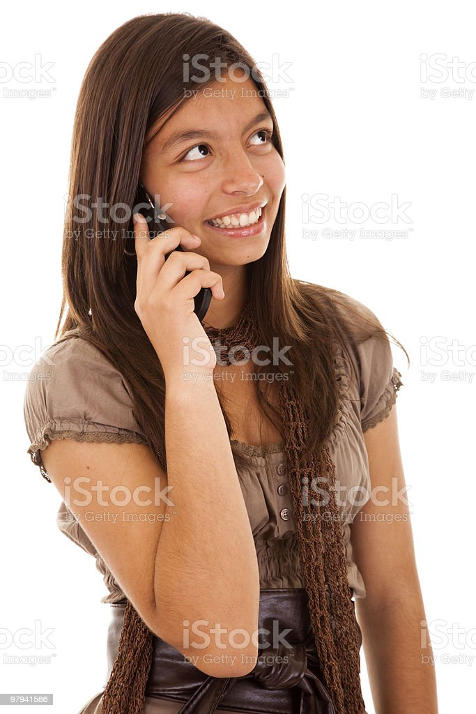 Teenager cellphone addiction royalty-free stock photo