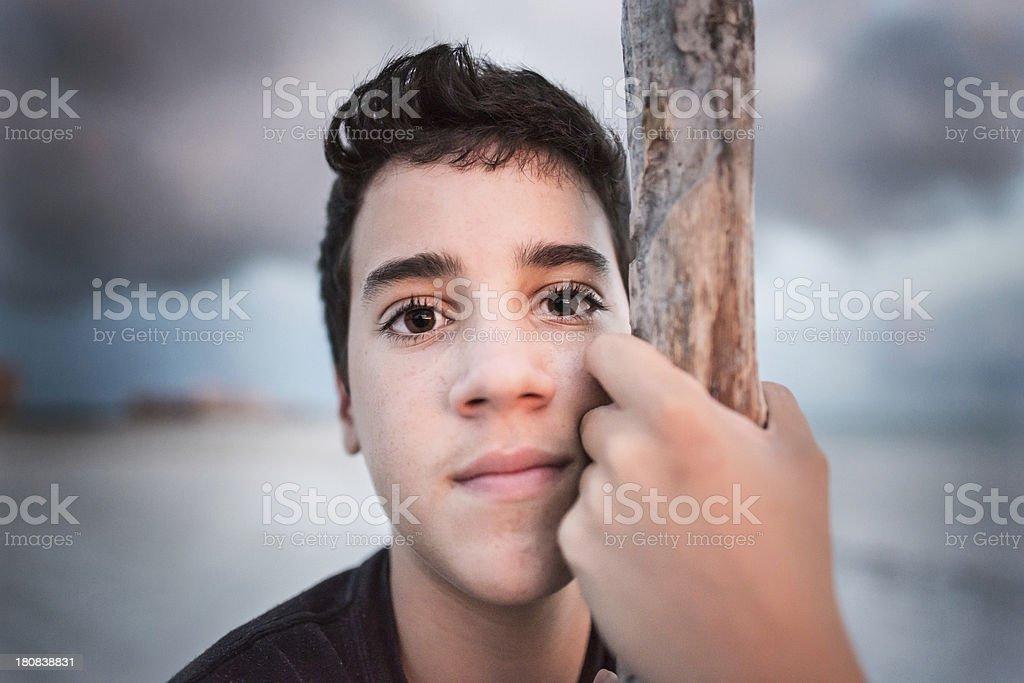 Teenager Close up stock photo