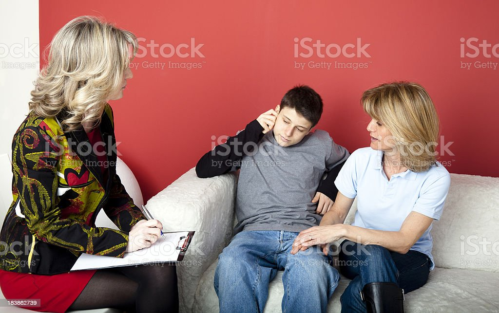 Teenager counseling royalty-free stock photo