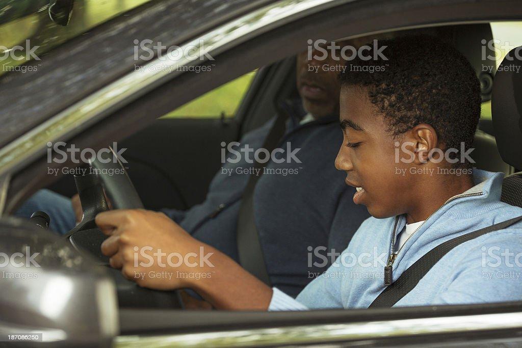Teenager Driving stock photo