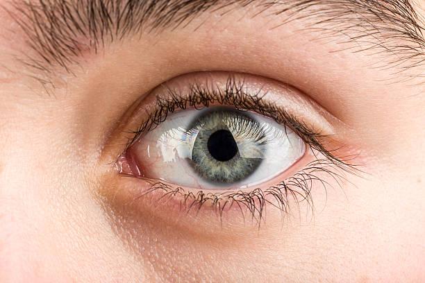 teenager eye macro stock photo