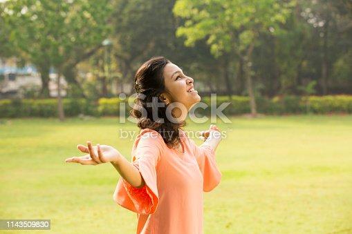 Indian, Teenger, Girl, Flower, Outdoor, park,