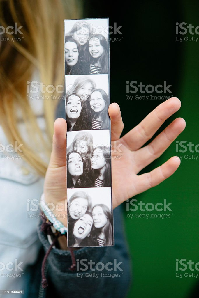 teenager girls on photo both picture stock photo