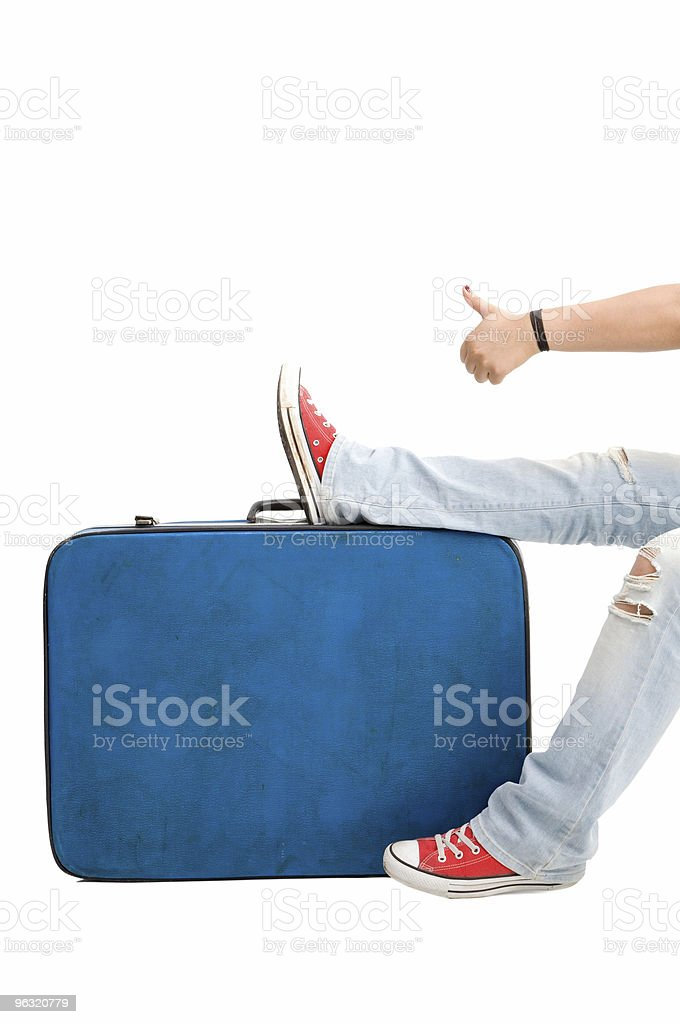 Teenager Hitchhiking royalty-free stock photo