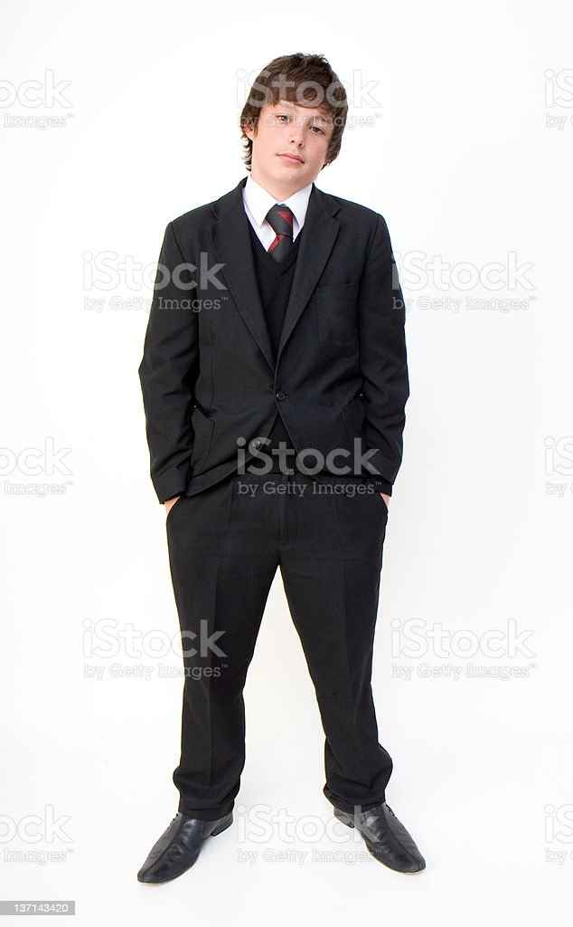 Teenager In His School Uniform royalty-free stock photo