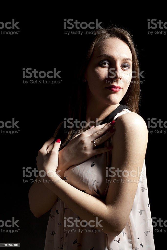 Teenager in pijamas royalty-free stock photo