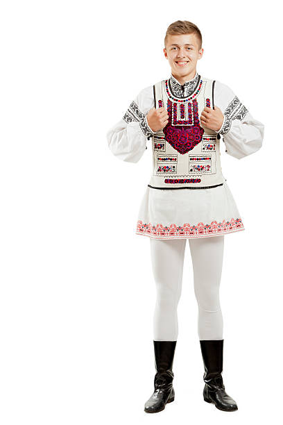 teenager in traditional costume - eastern european culture stock photos and pictures