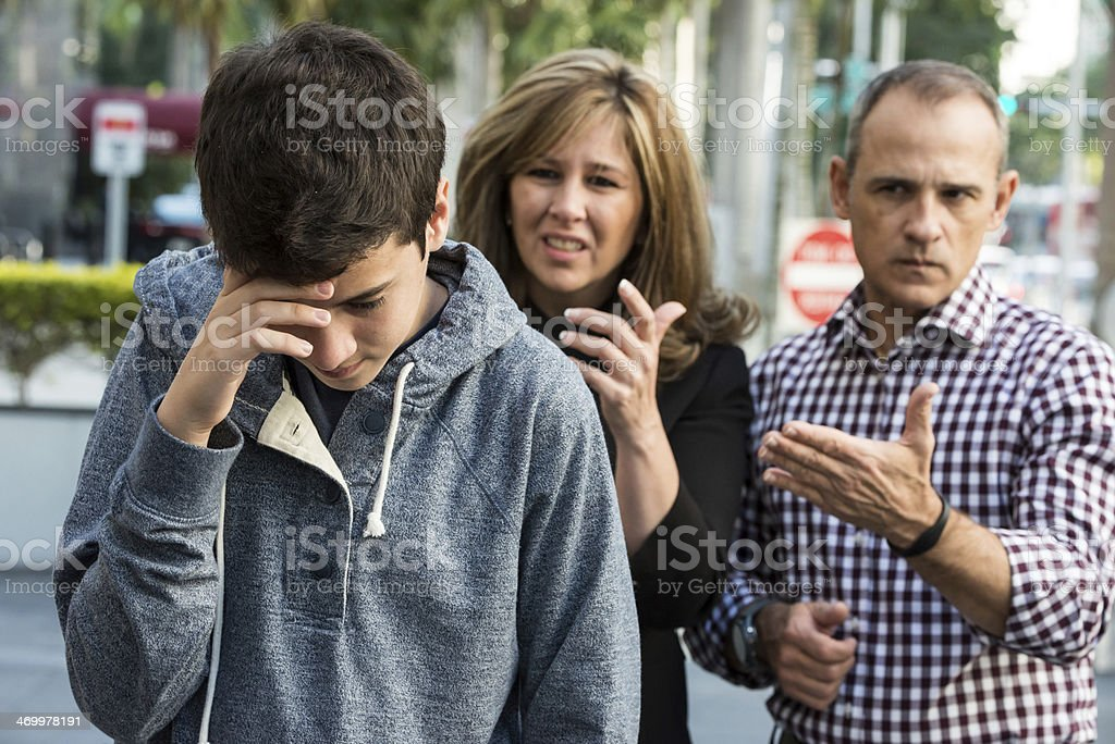 Teenager in troubles stock photo