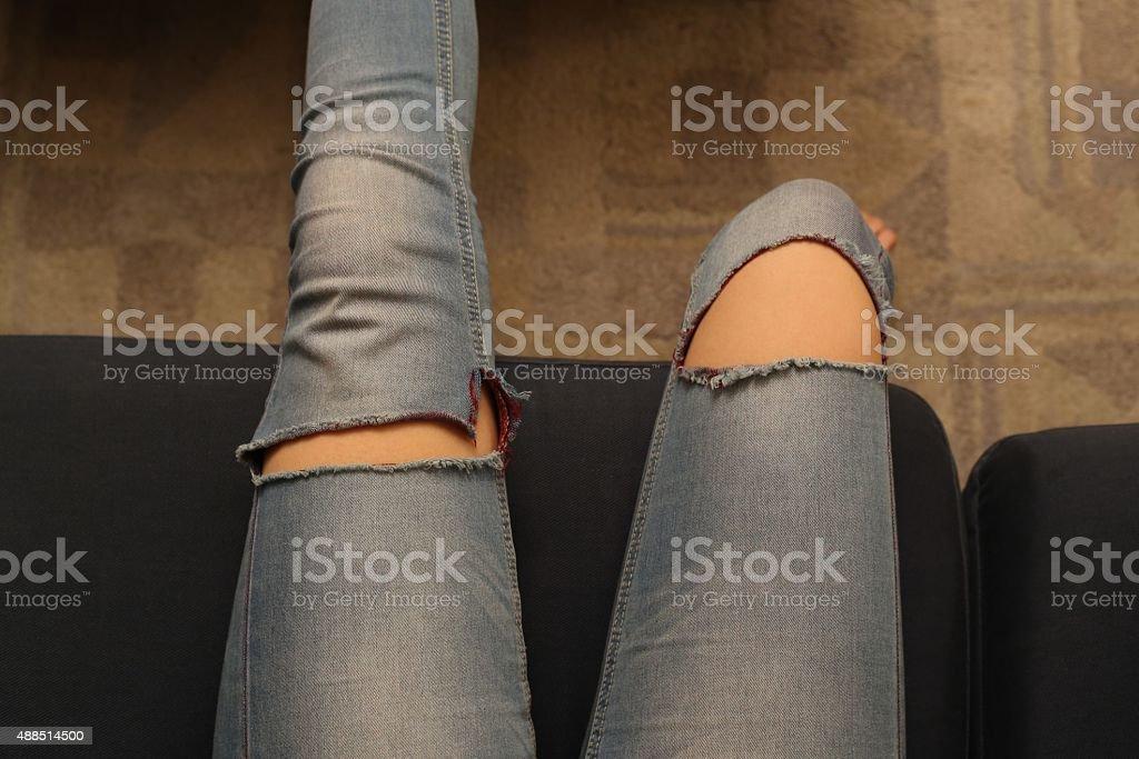 Adolescente las piernas - foto de stock