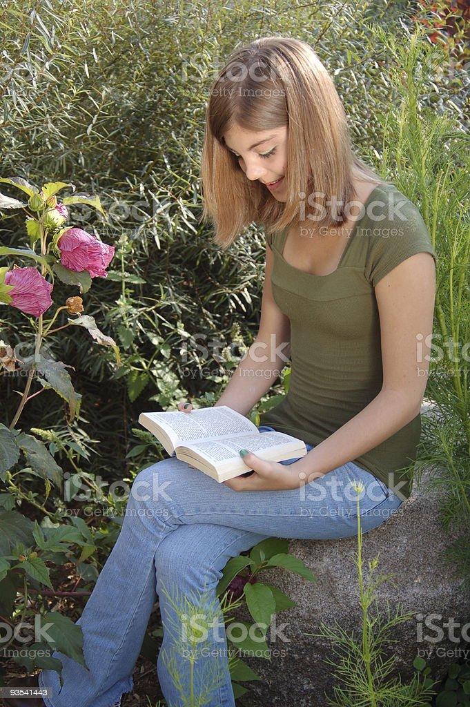 Teenager Reading royalty-free stock photo