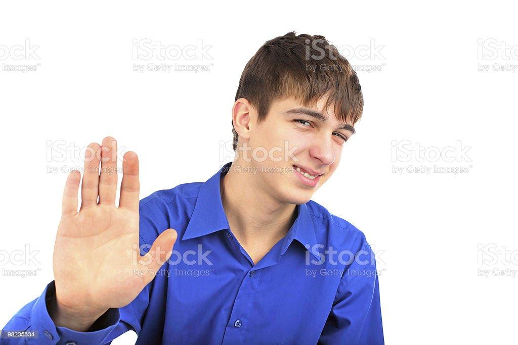 teenager say no royalty-free stock photo