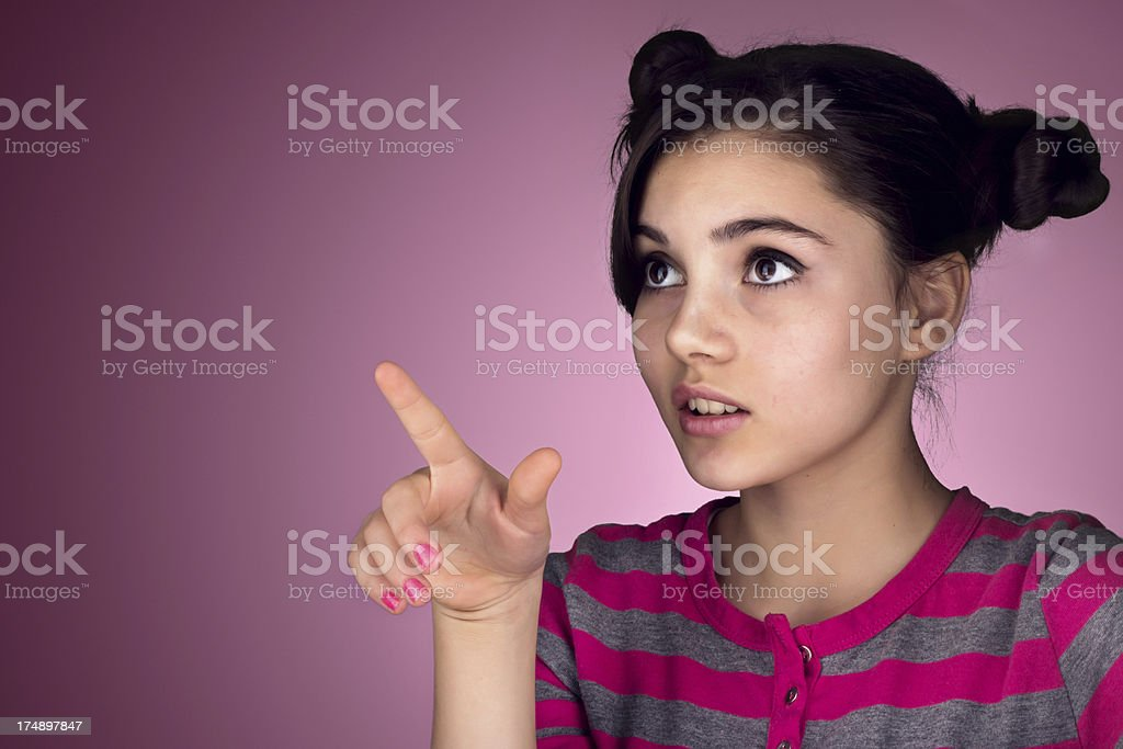 Teenager showing royalty-free stock photo