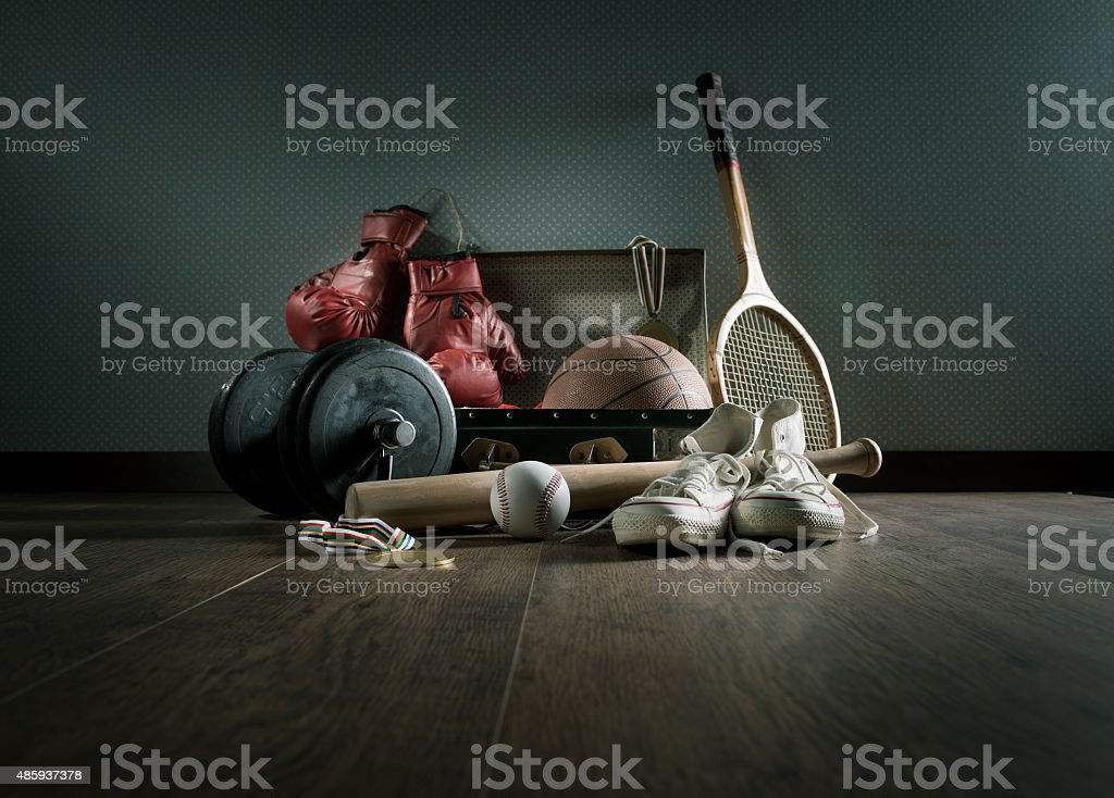 Adolescente attrezzature sportive - foto stock