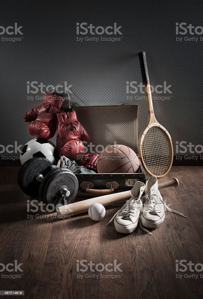 Teenager sports equipment stock photo