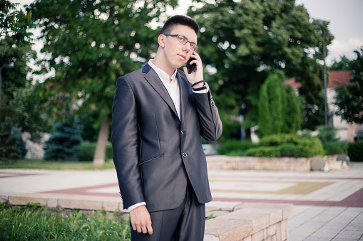 Teenager Talking On Mobile Phone Stock Photo - Download Image Now