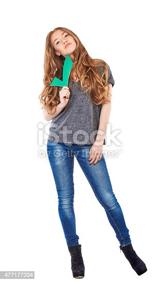 istock teenager with approved check mark 477177204