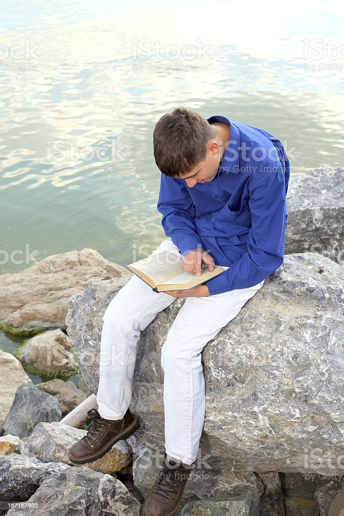 teenager with book royalty-free stock photo