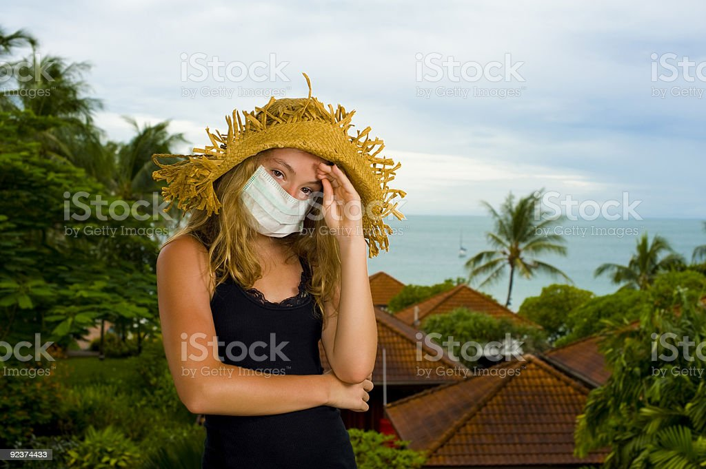 teenager with face mask royalty-free stock photo
