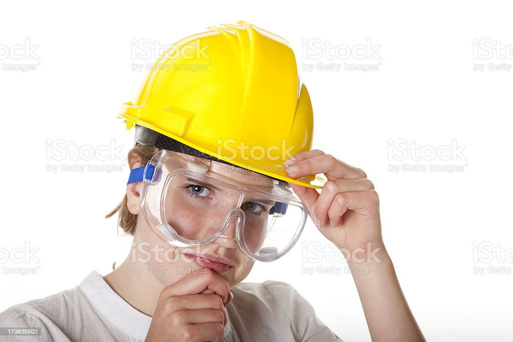 Teenager with safety equipment. royalty-free stock photo