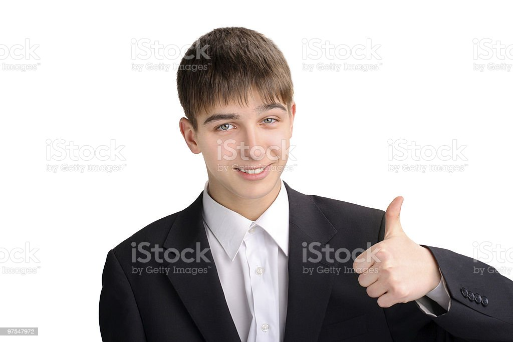 teenager with thumb up royalty-free stock photo