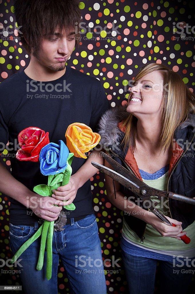 Подросток Молодая пара портреты человека Стоковые фото Стоковая фотография