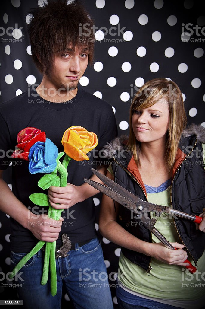 teenager young person couple portraits royalty-free stock photo