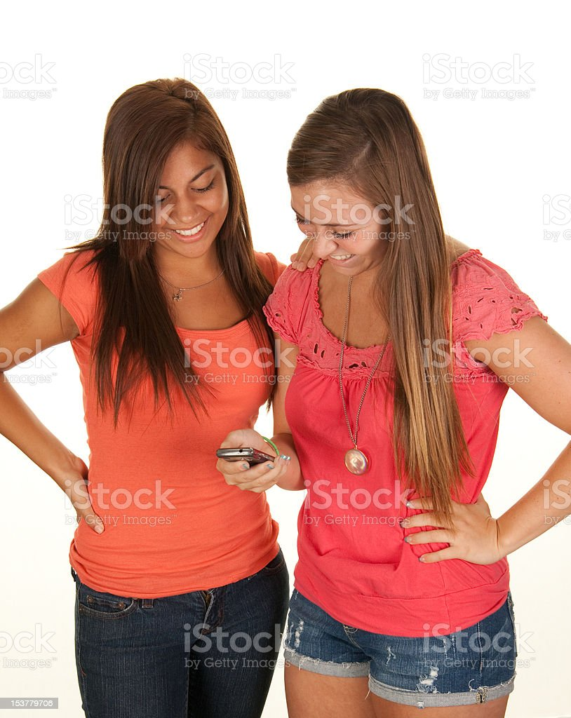 Teenagers and Text Messaging royalty-free stock photo