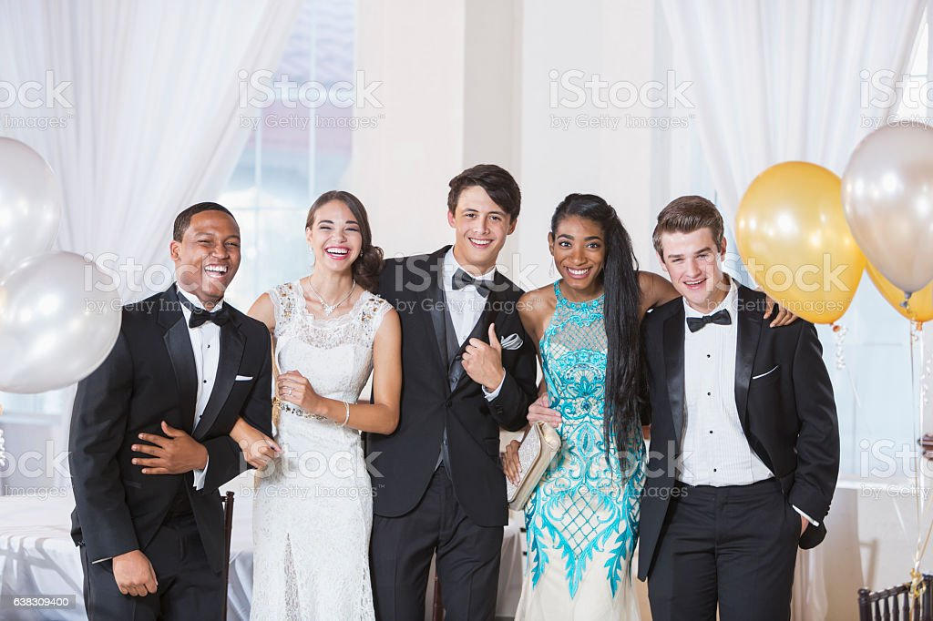 Teenagers at prom - foto de stock