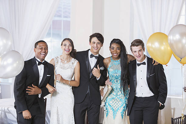 teenagers at prom - prom stock photos and pictures