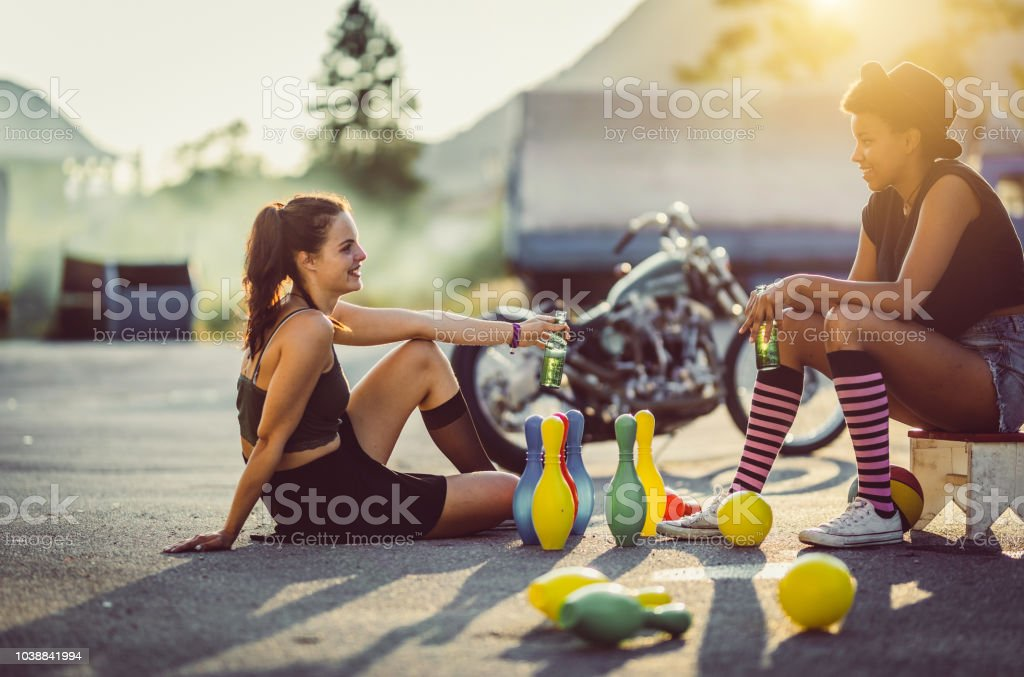 Teenagers Hanging Out stock photo