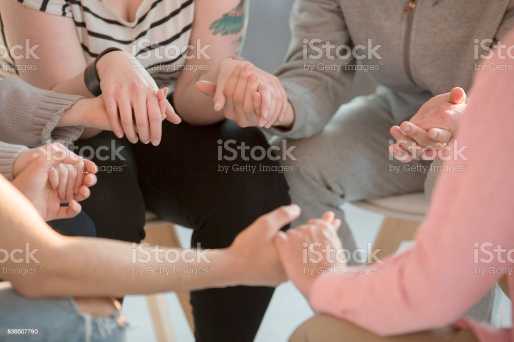 Teenagers receiving help stock photo