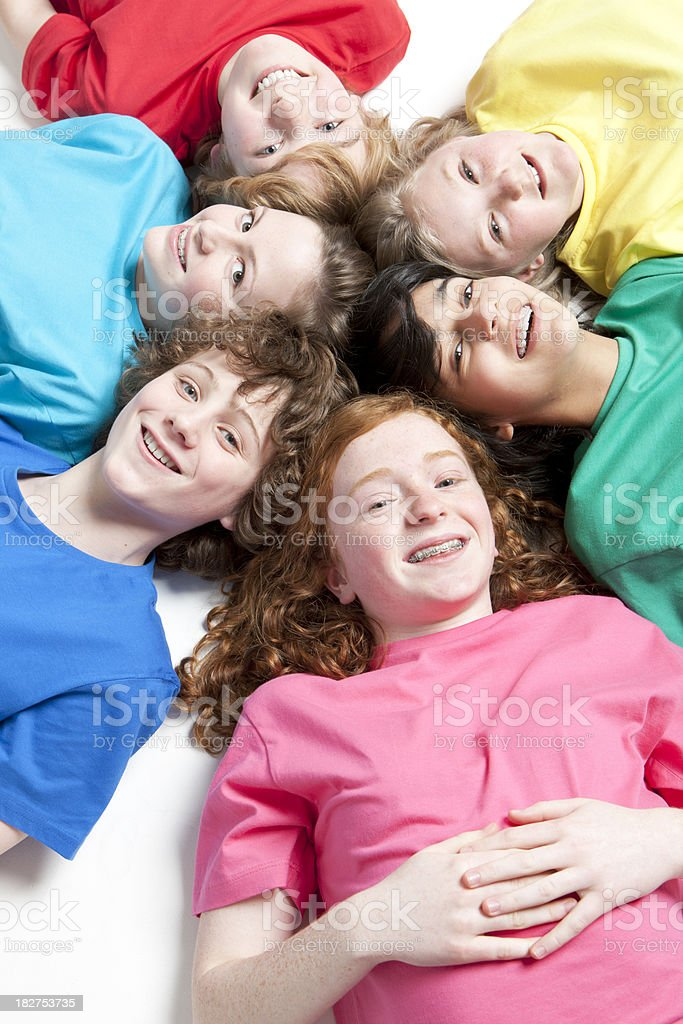 teenagers together royalty-free stock photo