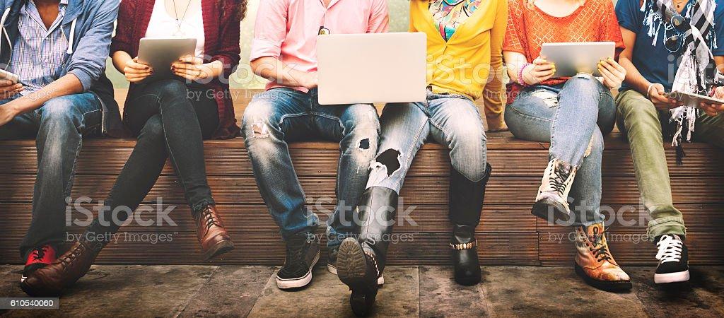 Teenager junge Team fröhlich Konzept Lizenzfreies stock-foto
