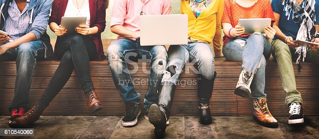 istock Teenagers Young Team Together Cheerful Concept 610540060