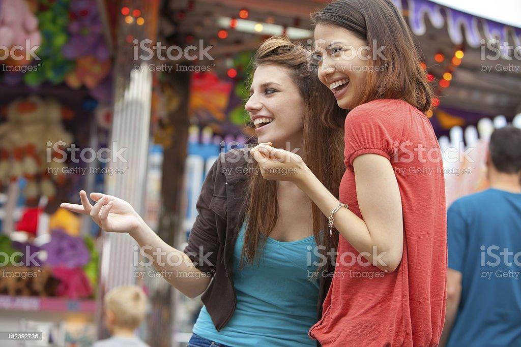 Teens at a Carnival stock photo