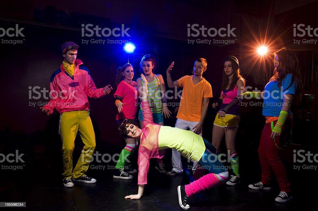 Teens Dancing royalty-free stock photo