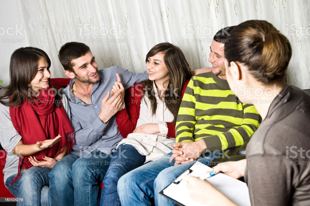 teens & family Therapy royalty-free stock photo
