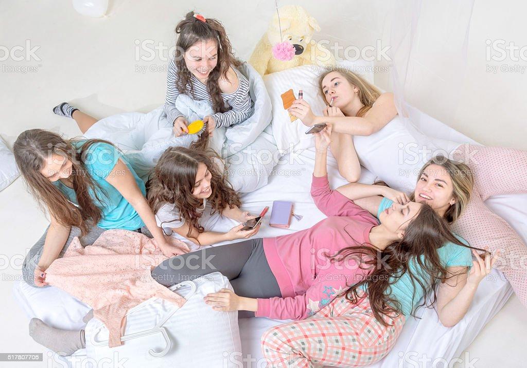 Teen girls slumber party