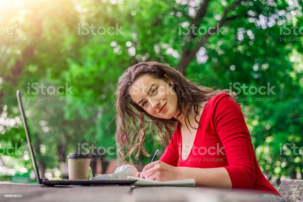 Teens Using Social Media, There's no place better to get you into study mode royalty-free stock photo